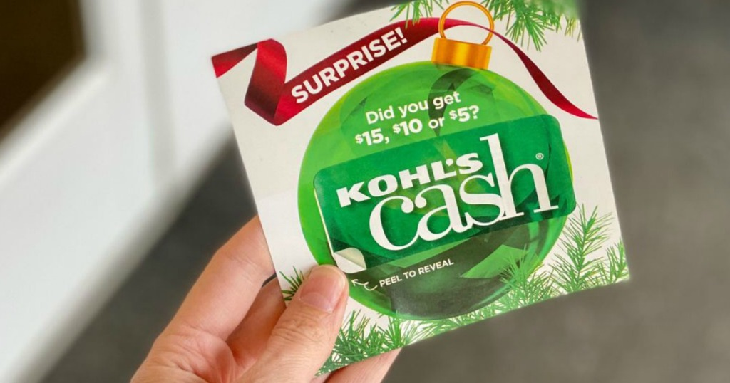 hand holding Surprise Kohl's Cash