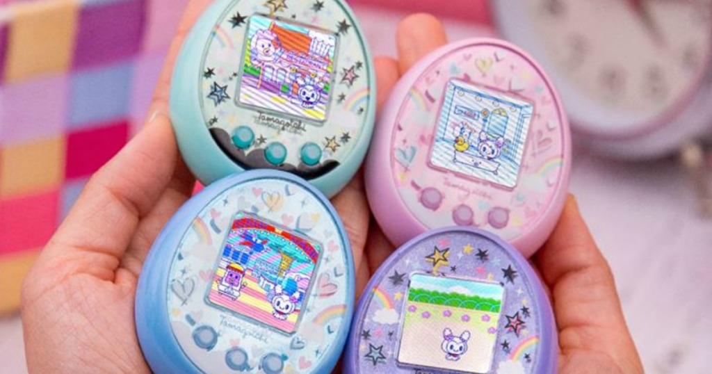 Tamagotchi On Fairy toys in hands