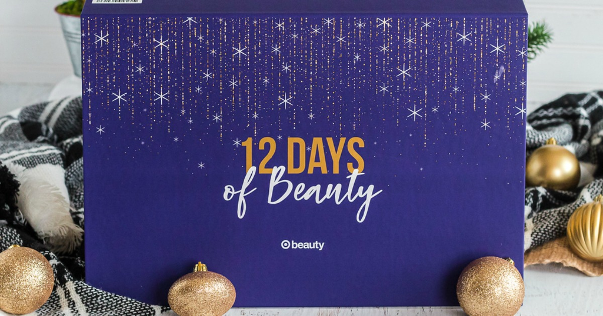 Target 12 Days of Beauty Box surrounded by ornaments