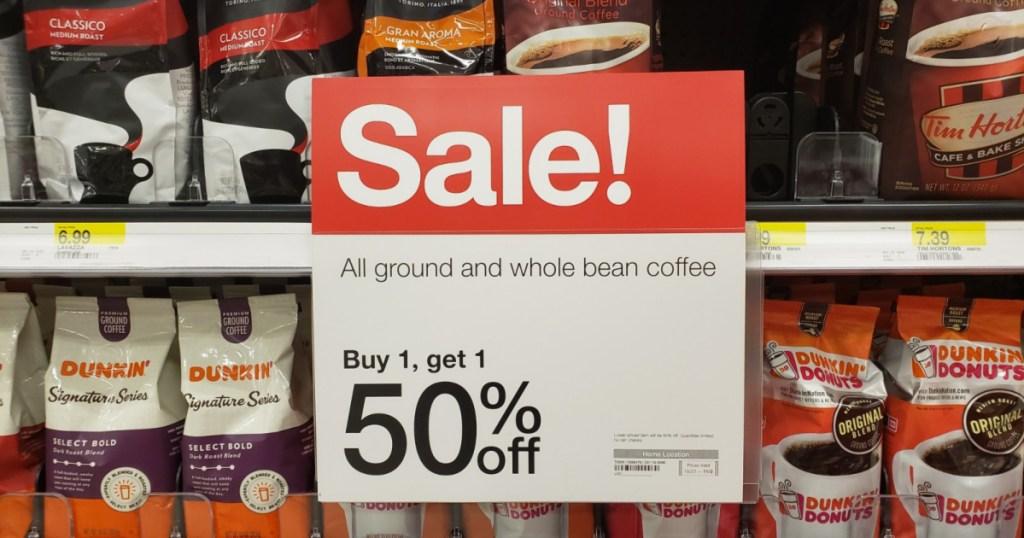 coffee on sale at target