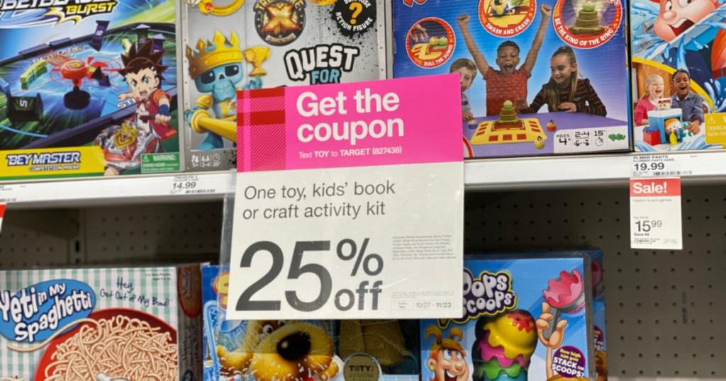 target coupon sign