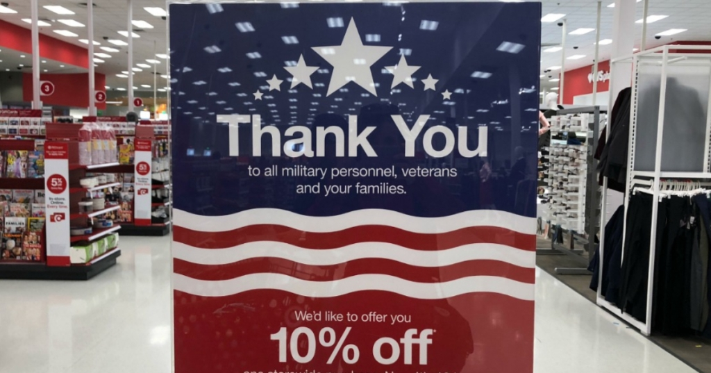 Target Veterans Day signage