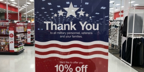 Rare 10% Off Target Coupon for Military Members & Families | Starting 11/1