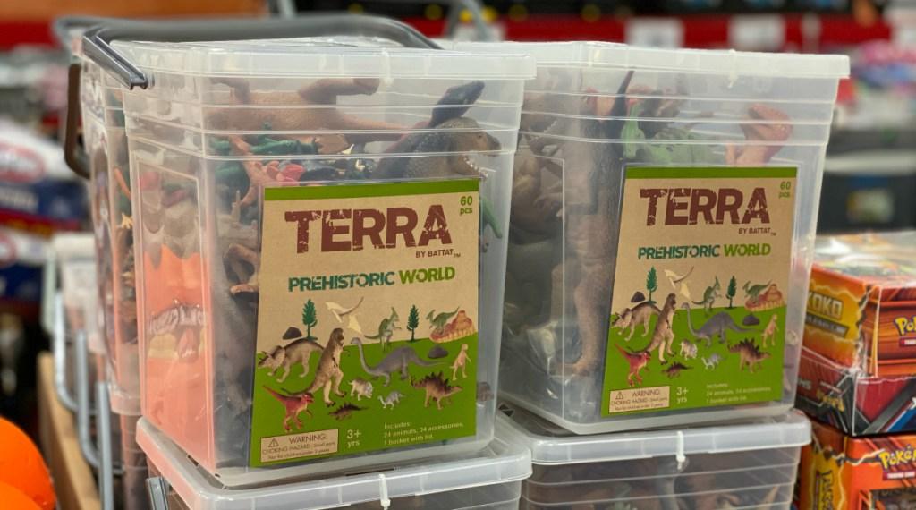 Terra Prehistoric World 60-piece Dino Bucket