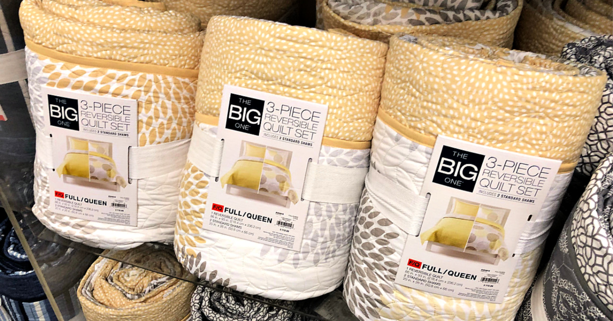 The Big One 3-Piece Reversible Quilt Set