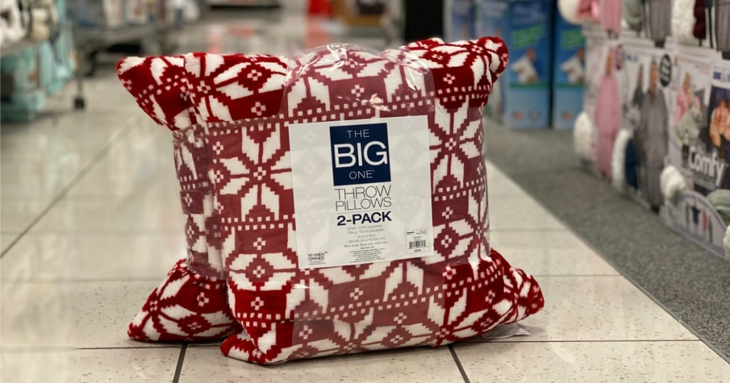 The Big One Throw Pillows 2-Pack in Christmas Design