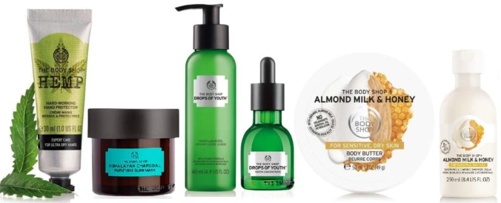The Body Shop Black Friday Tote Bag contents