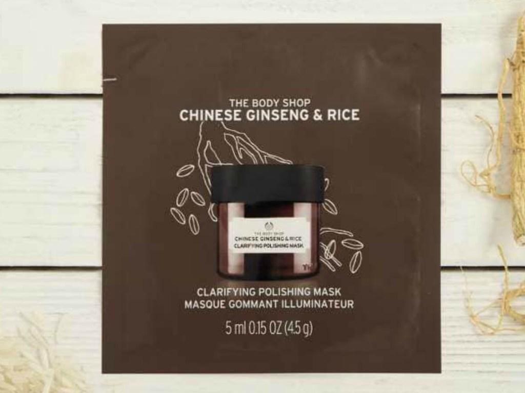 Chinese Ginseng & Rice Clarifying Polishing Mask Packette