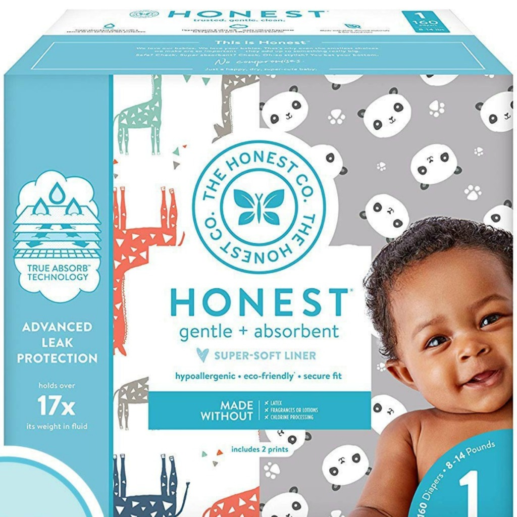 The Honest Company Diapers pack for size 1