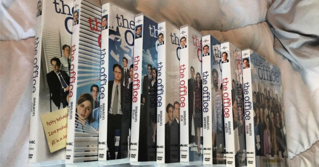 The office full season dvds spread out