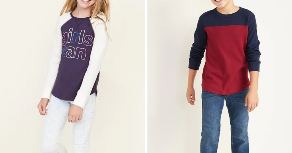 Thermal Tees for Girls or Boys
