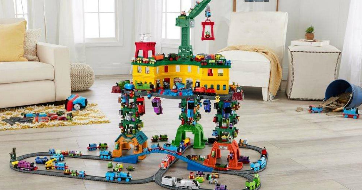 Thomas /& Friends Engine Train Super Station Playset
