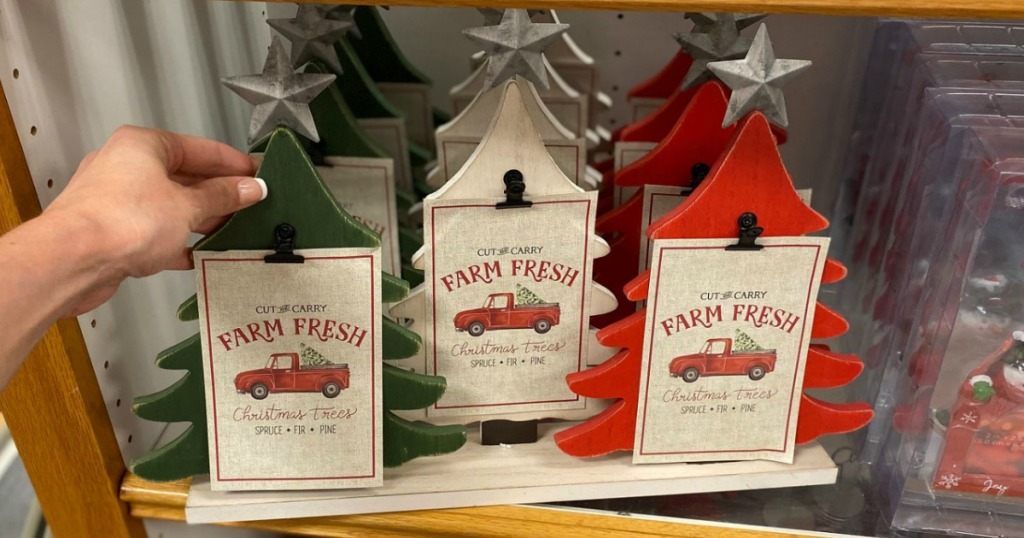 Three tree Christmas Photo frame in Kohl's on display