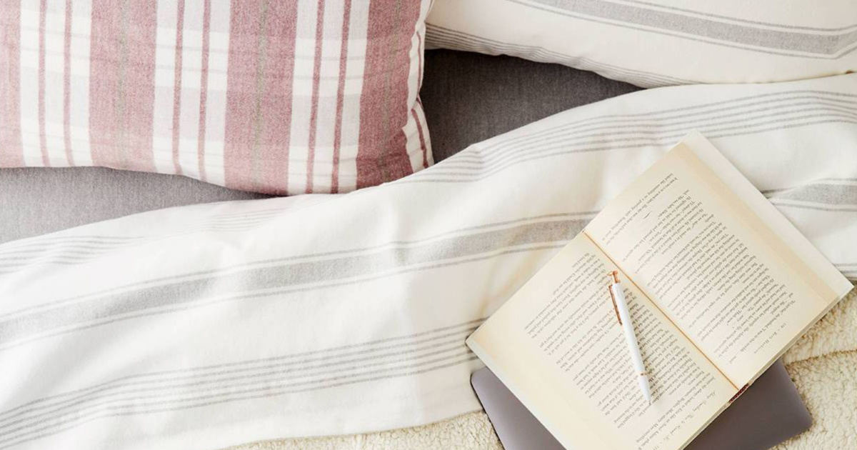 threshold striped sheet set