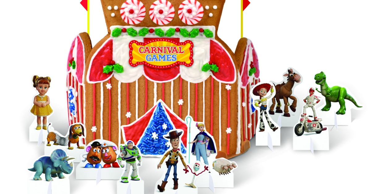 toy story 4 carnival gingerbread house stock image