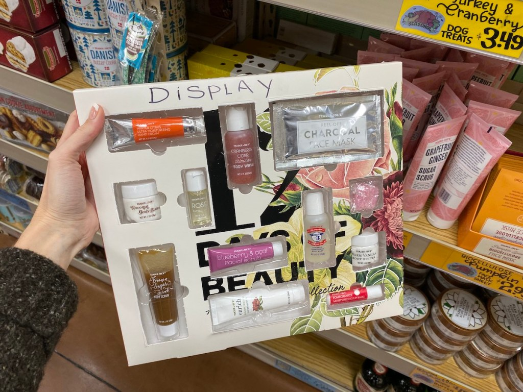 Trader Joe's 12 Days of Beauty showign contents