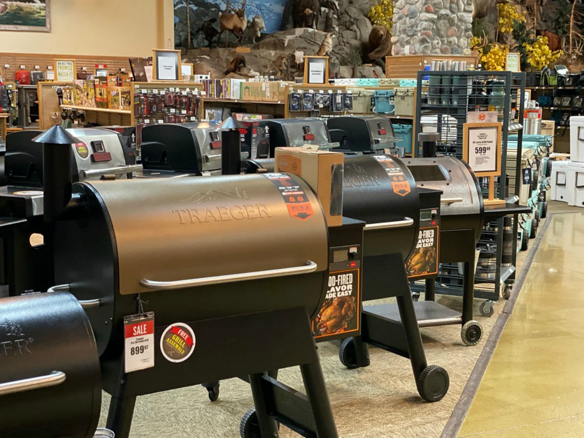 Traeger grills at Bass Pro Shops