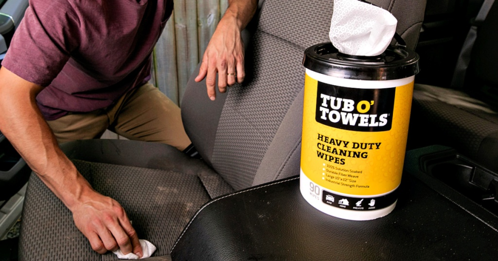 Tub O Towels Heavy-Duty 90-Count Cleaning Wipes