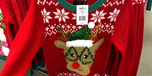 Ugly Christmas Sweaters as Low as $13.99 (Regularly $30) + Free Shipping for Kohl's Cardholders