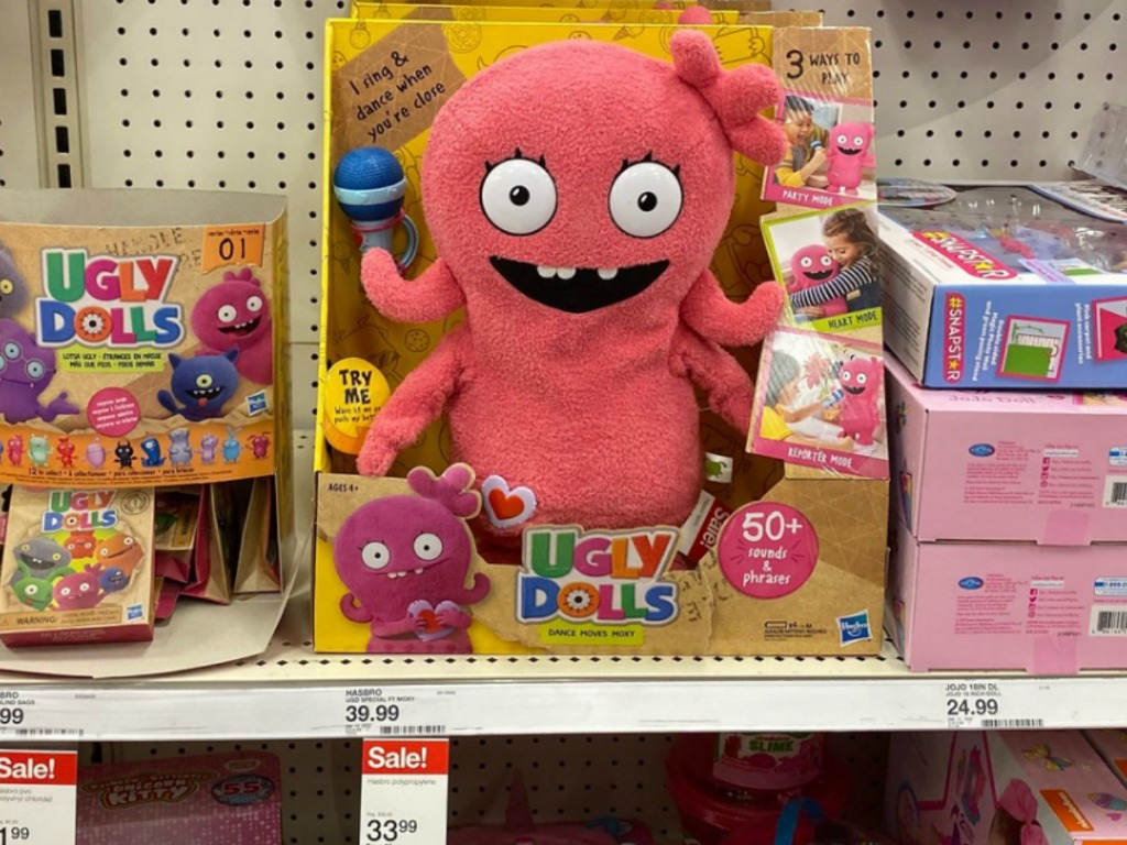 Ugly Dolls Moxi Toys on display at Target
