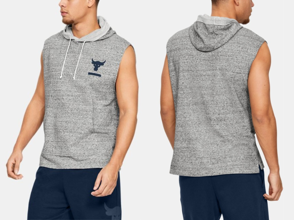 Under Armour Men's Project Rock Terry Sleeveless Jacket
