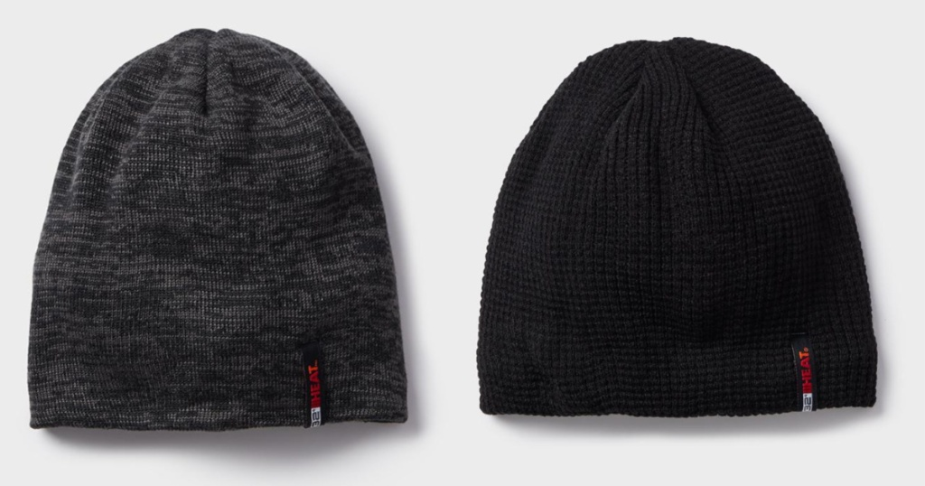 two unisex beanies