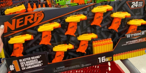 NERF Alpha Strike Stinger Blasters 8-Pack + 30-Dart Refill Pack as Low as $8 at Target ($25.99 Value)