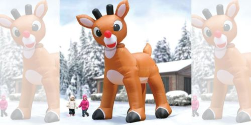Would You Pay Nearly $400 for This HUGE Inflatable Rudolph From Hammacher Schlemmer?