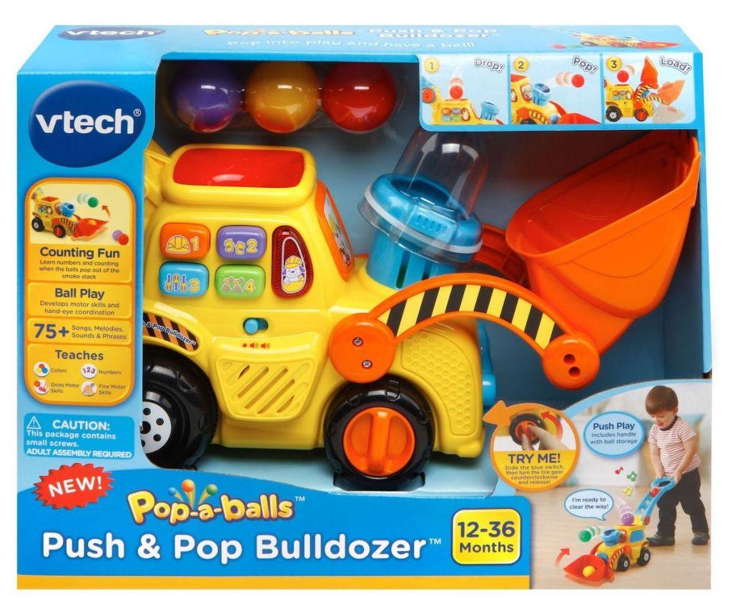 VTech Push & Pop Bulldozer in Box
