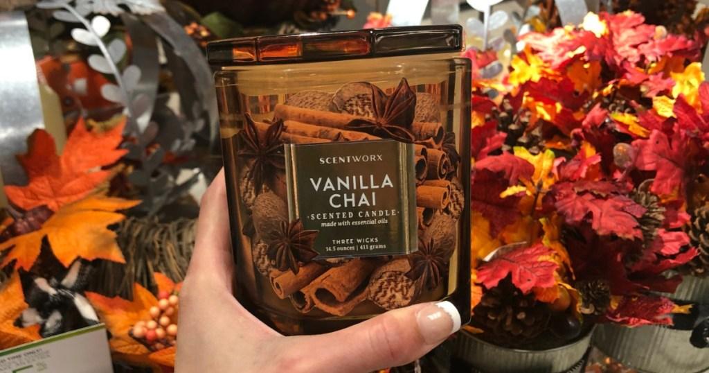 Vanilla Chai Scentworx Candle