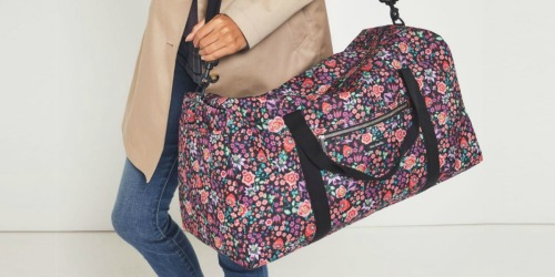 Vera Bradley Large Duffel Bag Only $28 Shipped (Regularly $100) | Today Only