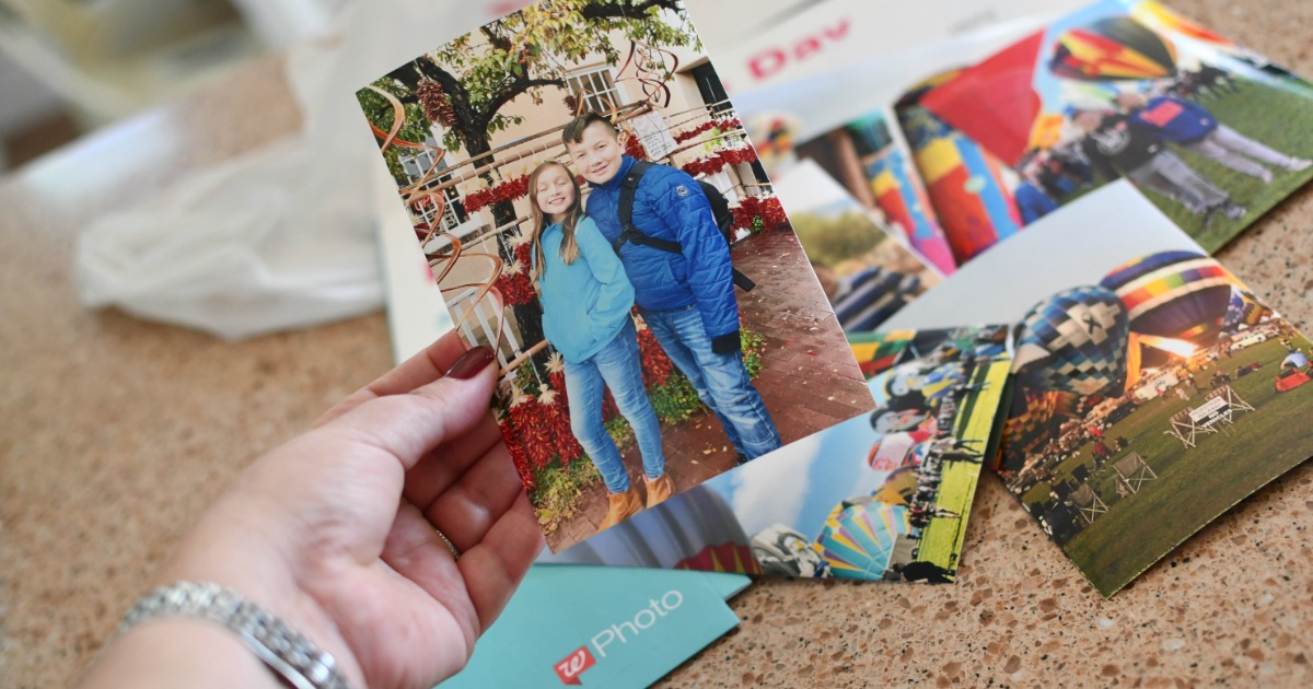 Woman holding Walgreens Photo Print
