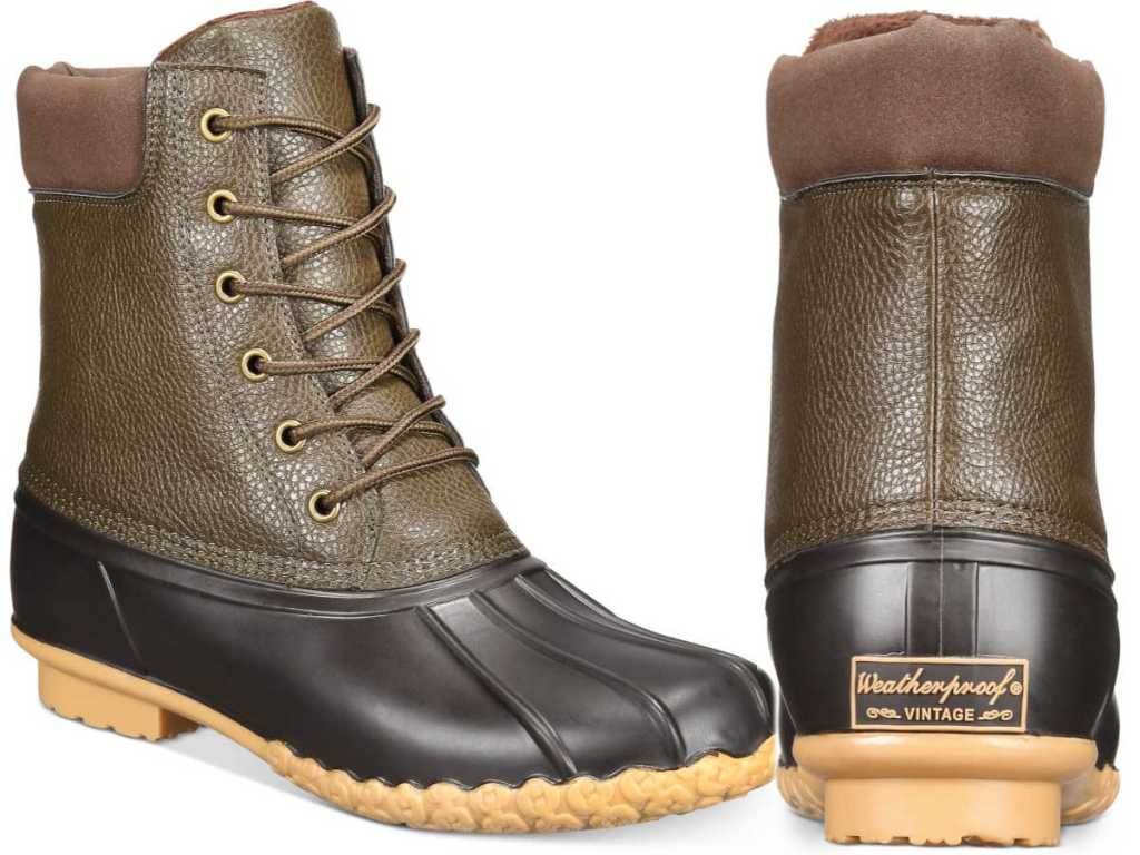 Weatherproof Vintage Men's Adam Duck Boots in Olive