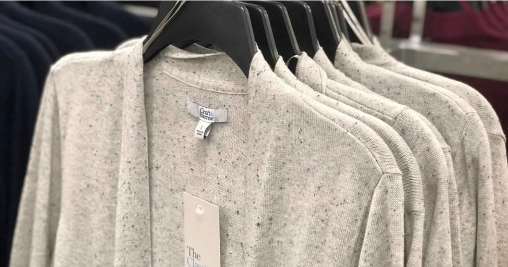 Women's Cardigans on hangers at Kohl's