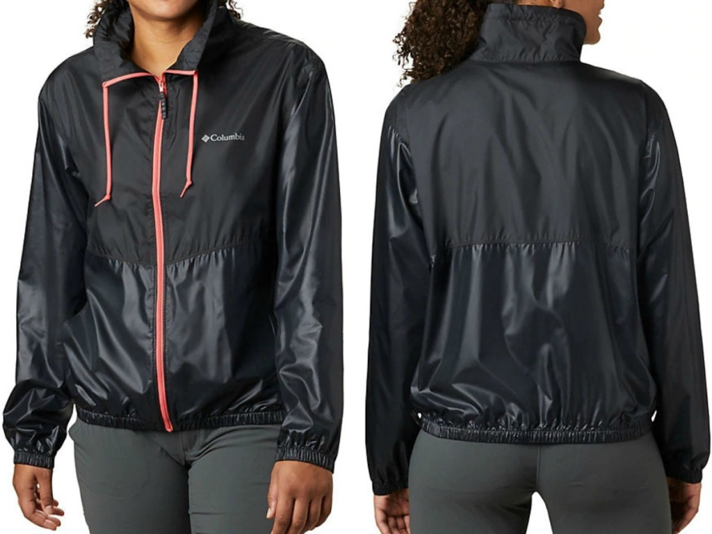 Columbia Women's Jacket at two angles - front and back