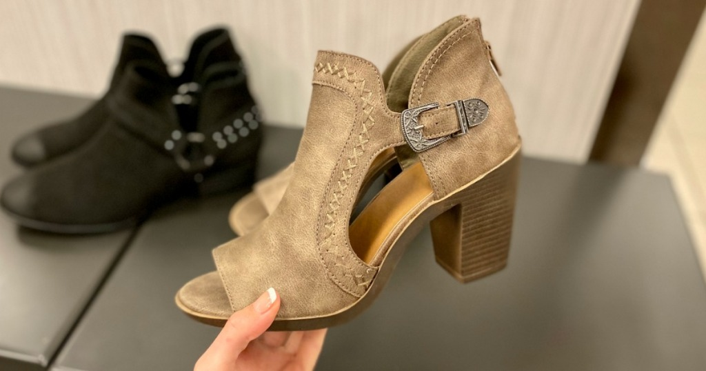 Women's Fashion Boots in hand at Kohl's