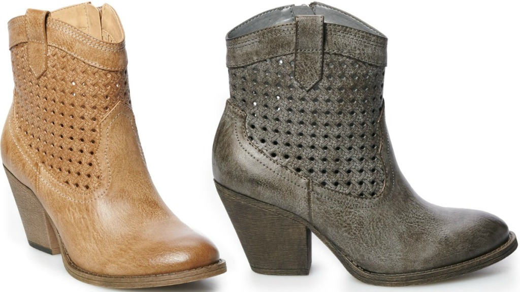 Two colors of Women's fashion boots - taupe & gray