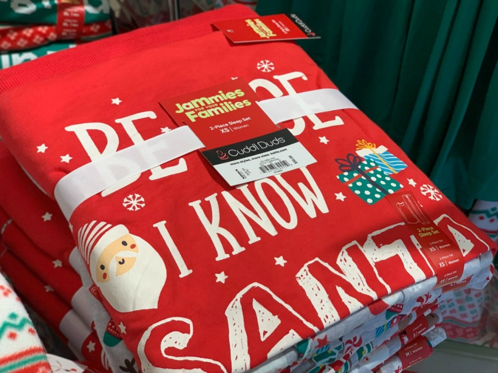 Women's Holiday matching jammies in package at Kohl's