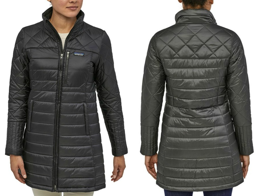 Women's Patagonia Coat - front and back view