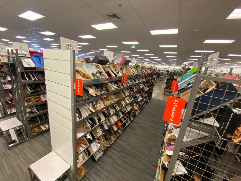aisles of Women's Shoes at Nordstrom Rack