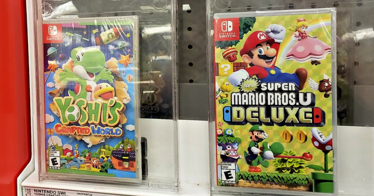 Yoshi's Crafted World and Super Mario Bros. U Deluxe Nintendo Switch Video Games
