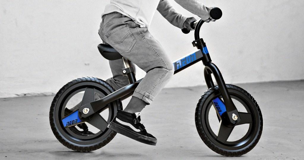 Yvolution Neon Balance Bike in Blue or Pink