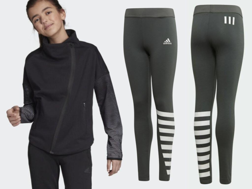 adidas kids tights and jacket