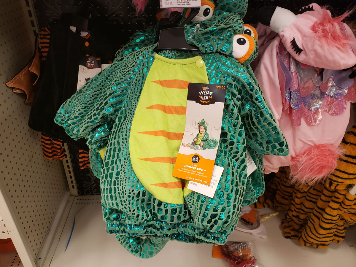 baby chameleon costume at Target