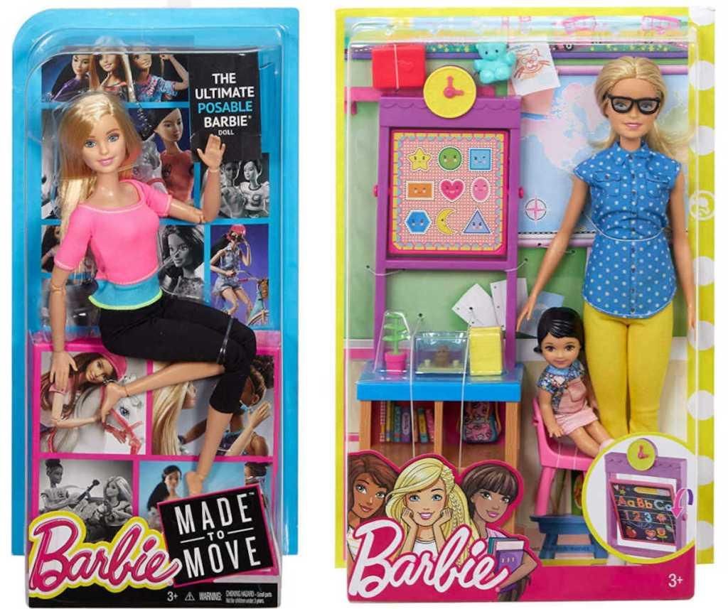 barbie made to move and teacher barbie