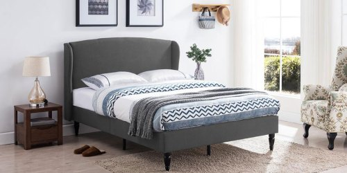 Upholstered Queen Bed Frames as Low as $151 at Home Depot (Regularly $335) + Free Store Pickup