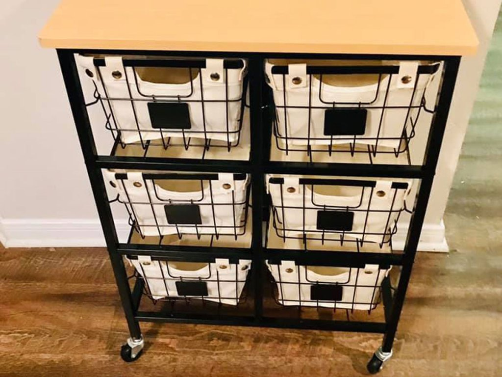 Better Homes and Gardens 6 Drawer Wire Rolling Cart
