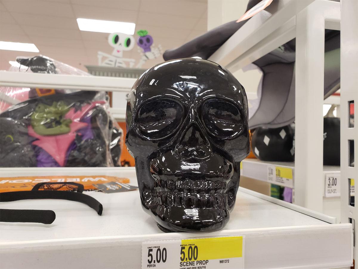 mercury glass black skull at target