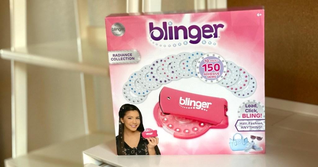 blinger box on table