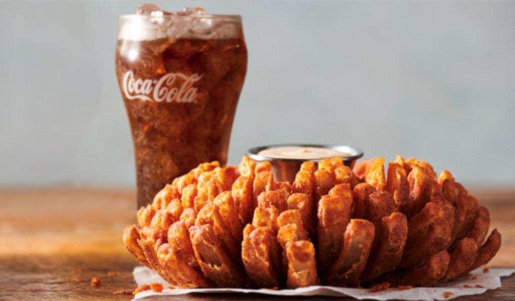 Bloomin' Onion and Coke